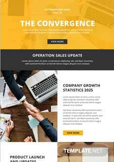 Free Sales Email Newsletter Template