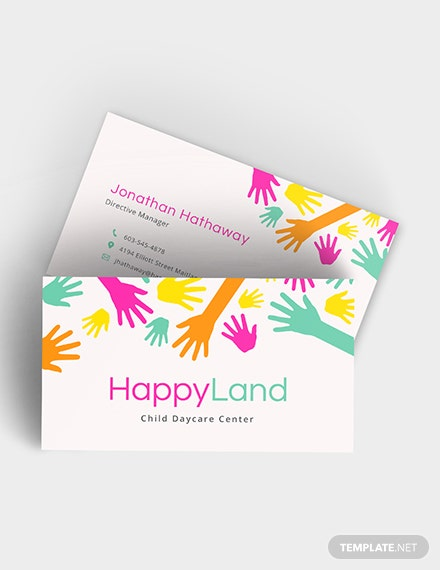 Childcare Business Card Download