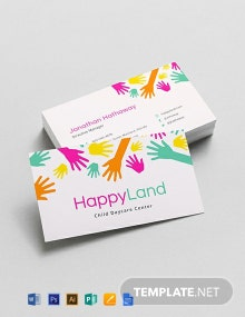 Child care Business Card Template