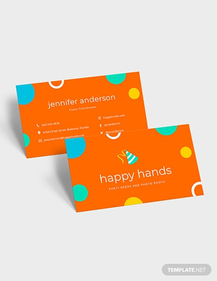 Sample Colorful Business Card