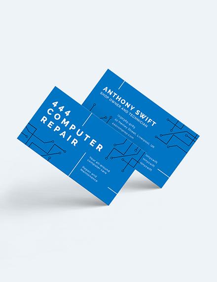Computer Repair Shop Business Card Download