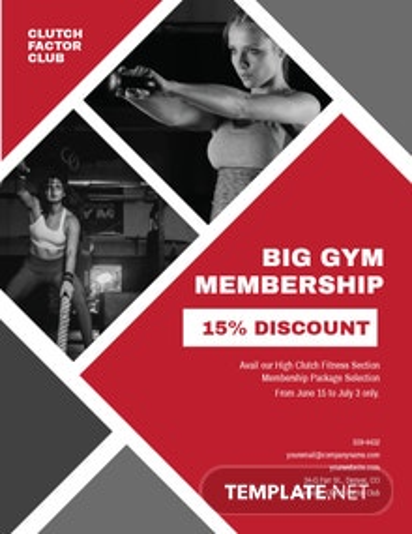 Gym Membership Flyer Template