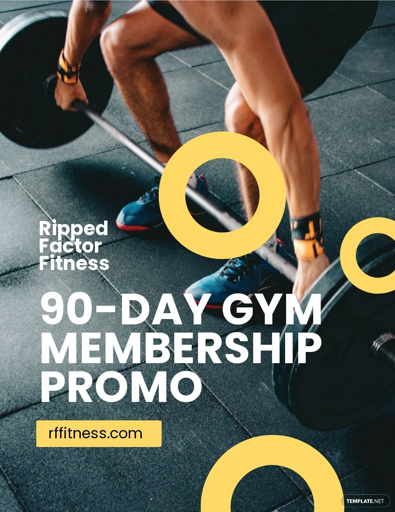 Gym Membership Flyer Template