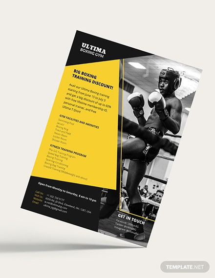 Boxing Gym Flyer Download