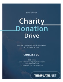 Charity Donation Flyer Template