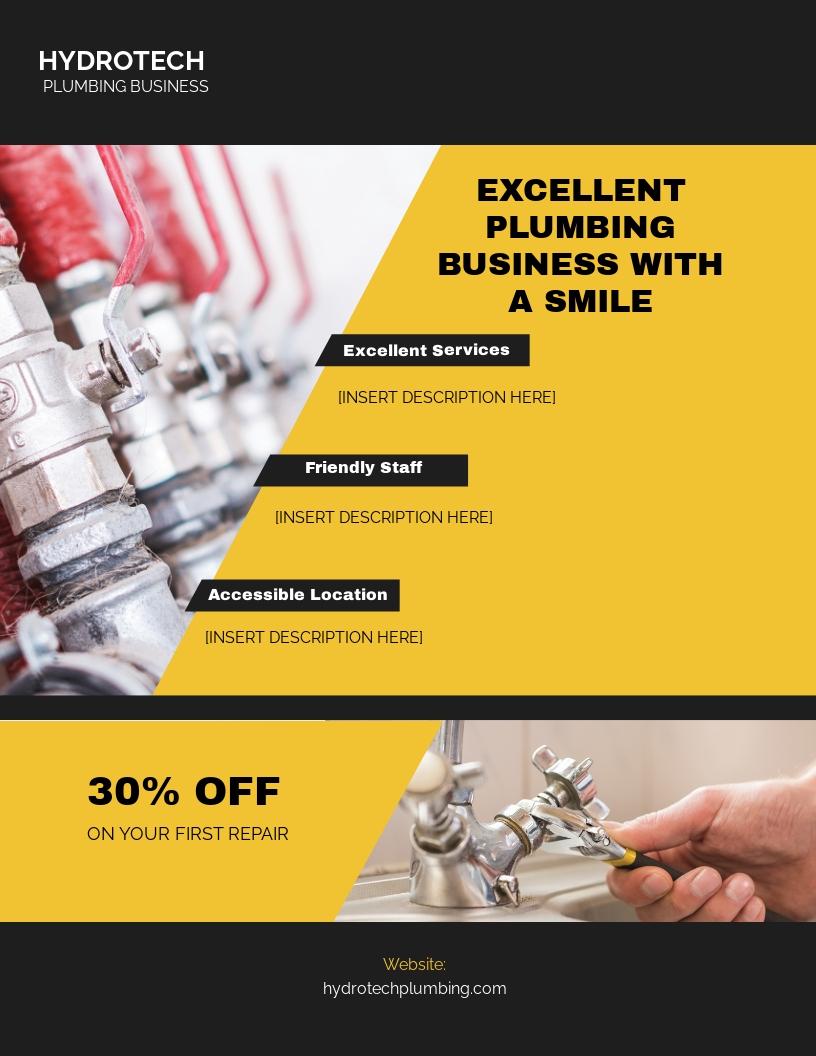Plumbing Business Flyer Template.jpe