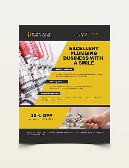 Plumbing Business Flyer Template