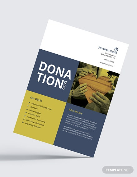 Church Donation Flyer Download