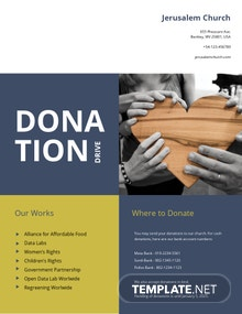 Church Donation Flyer Template