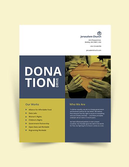 Church Donation Flyer Template