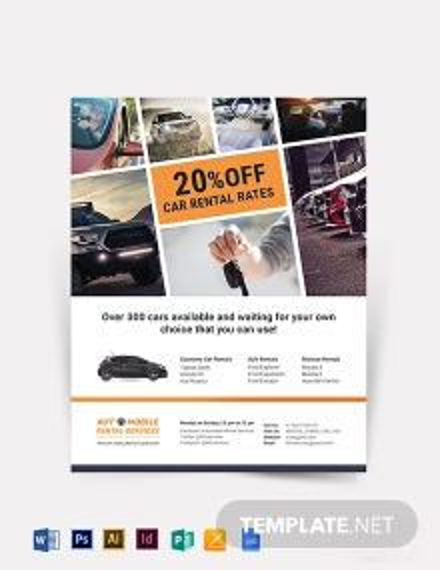 Creative Car Rental Flyer Template