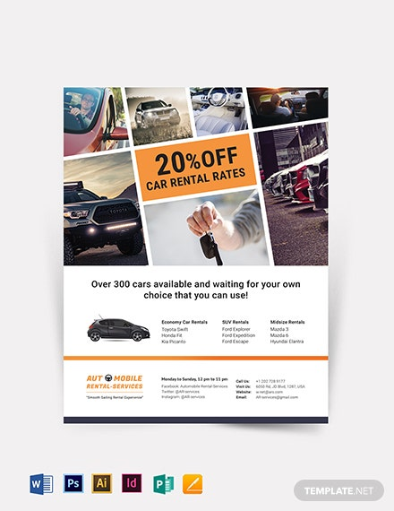 Creative Car Rental Flyer Template