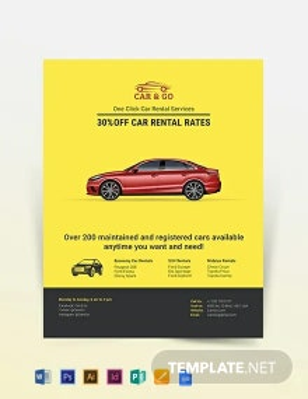 Simple Car Rental Flyer Template