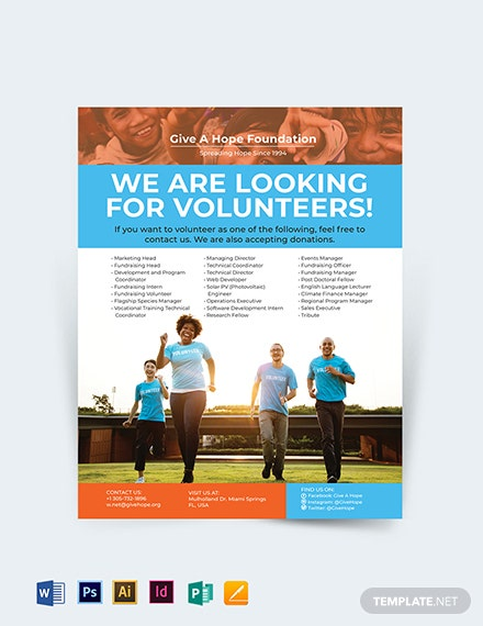 Volunteer Charity Flyer Template