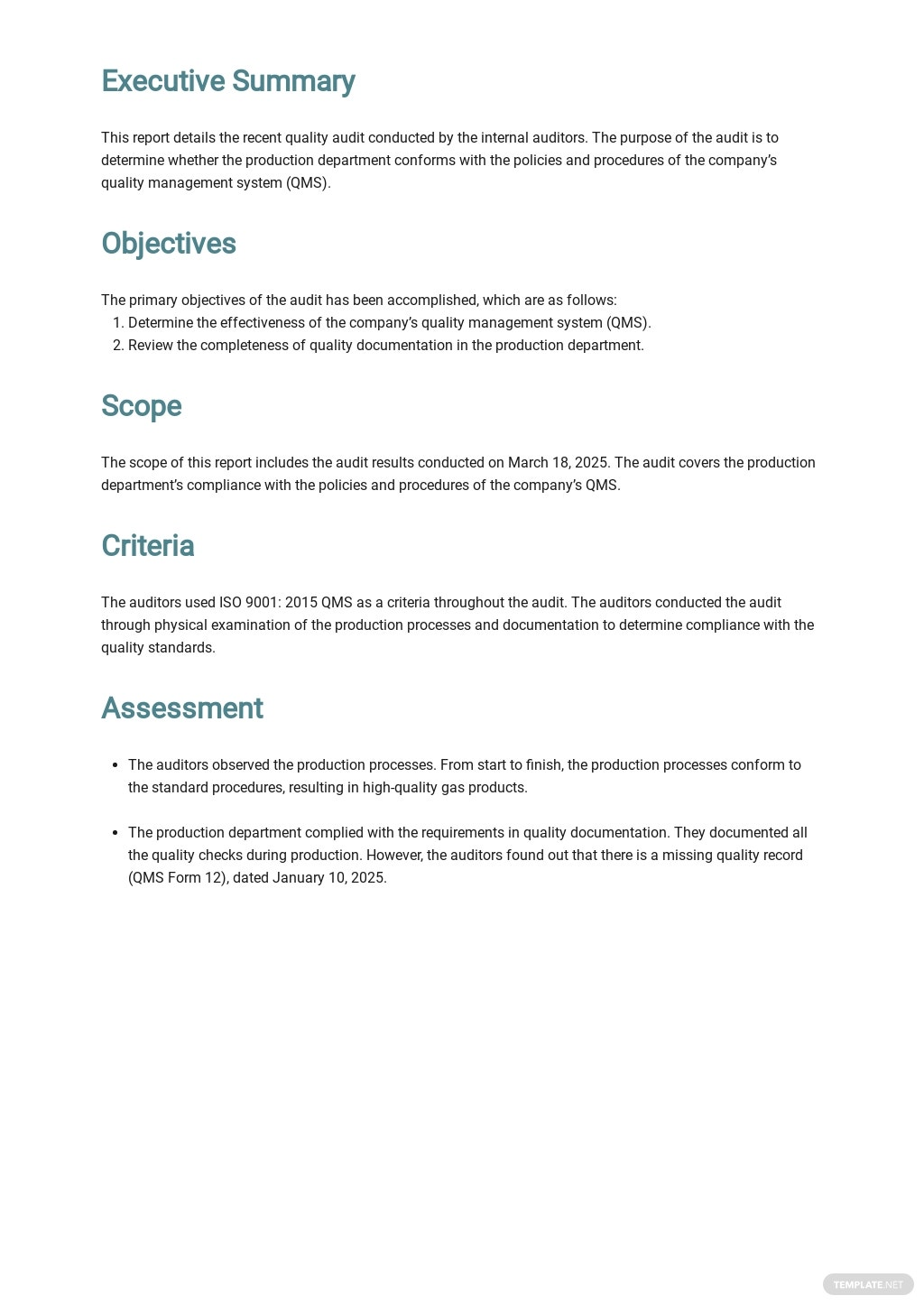 Internal Quality Audit Report Template 1.jpe