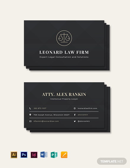 Chalkboard Attorney Business Card Template Download 154 Business