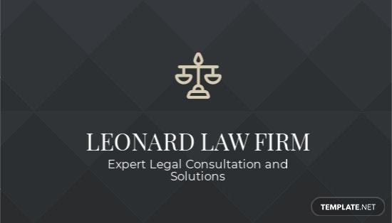 Chalkboard Attorney Business Card Template