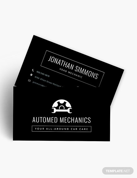 Chalkboard Auto Repair Business Card Download