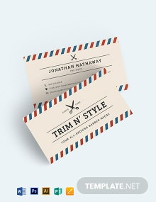 Hair Stylist Business Card Template