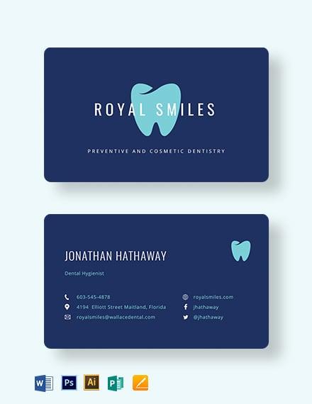 Modern Dentist Business Card Template
