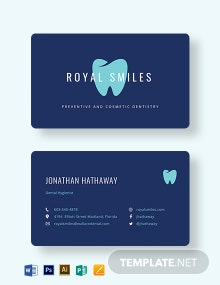 Modern Dentist Business Card Template