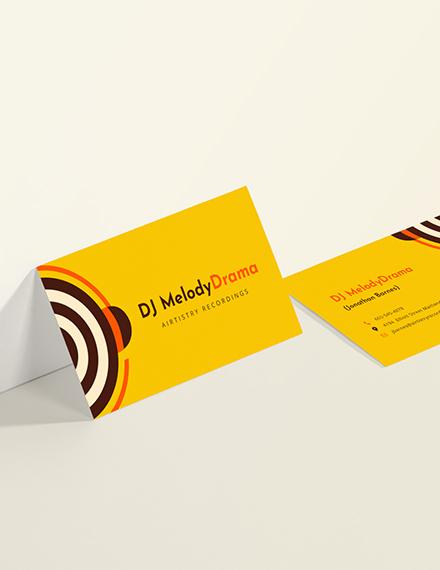 Sample Simple DJ Business Card