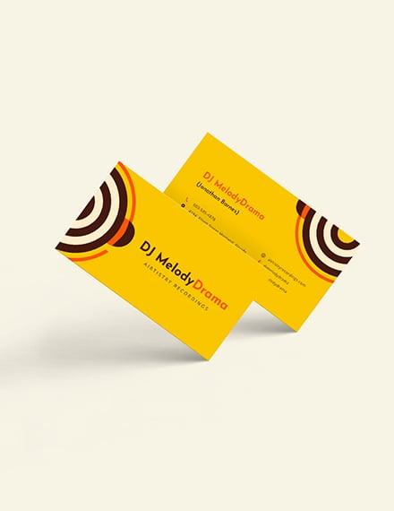 Simple DJ Business Card Download