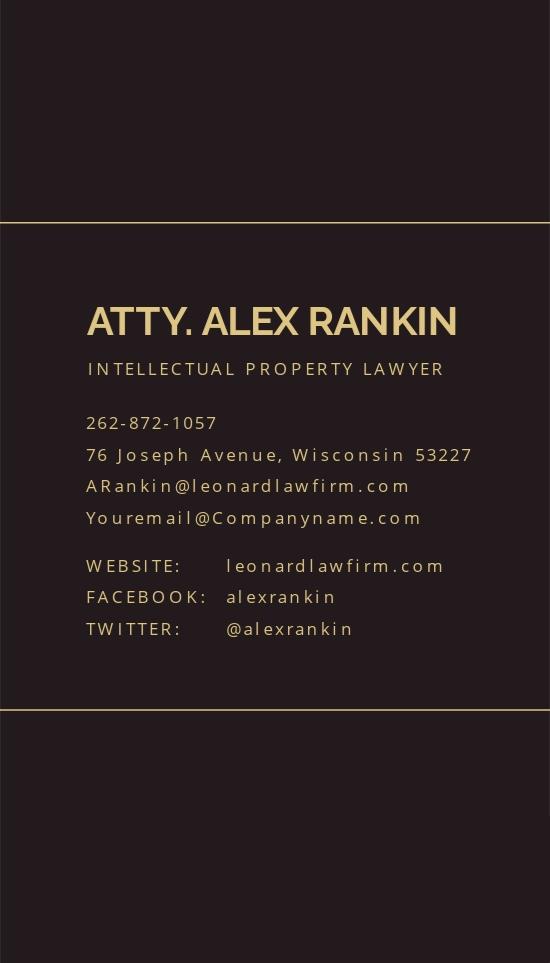 Chalkboard Lawyer Business Card Template 1.jpe