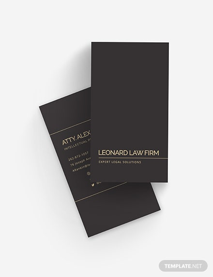Chalkboard Lawyer Business Card Template