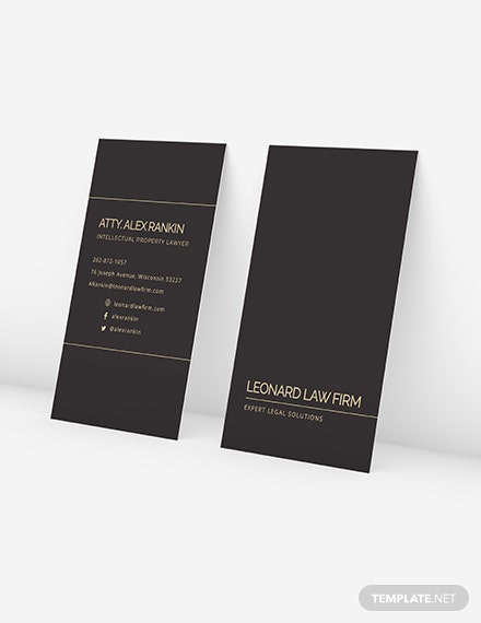 Sample Chalkboard Lawyer Business Card
