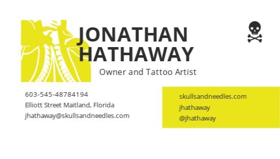 Minimalist Tattoo Artist Business Card Template 1.jpe