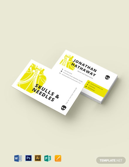 Minimalist Tattoo Artist Business Card Template