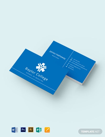 Free Modern Medical Student Business Card