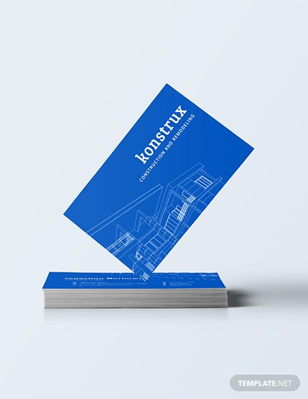 Modern Construction Business Card Download