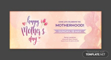 Free Mother's Day Facebook Cover Template