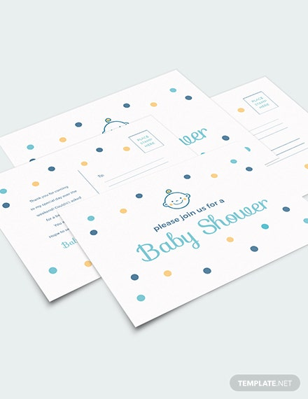 Baby Shower Invitation Postcard Download