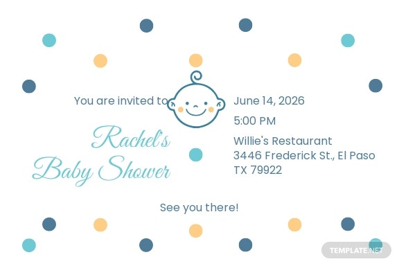 Baby Shower Invitation Postcard Template