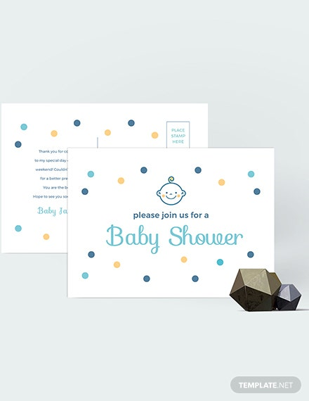 Sample Baby Shower Invitation Postcard