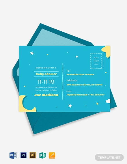 FREE Printable Postcard Template - Word | PSD | Apple Pages