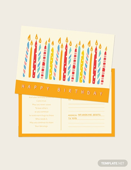 Birthday Postcard Download