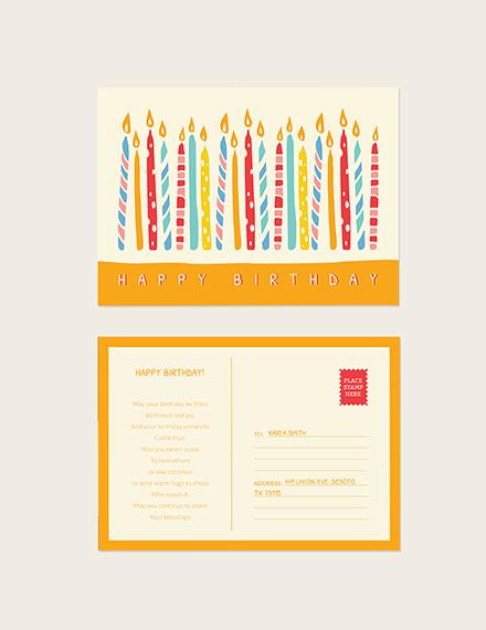 Sample Birthday Postcard