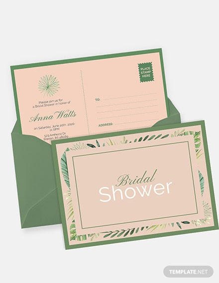 Bridal Shower invitation Postcard Download