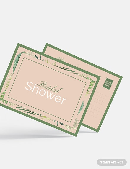 Sample Bridal Shower invitation Postcard