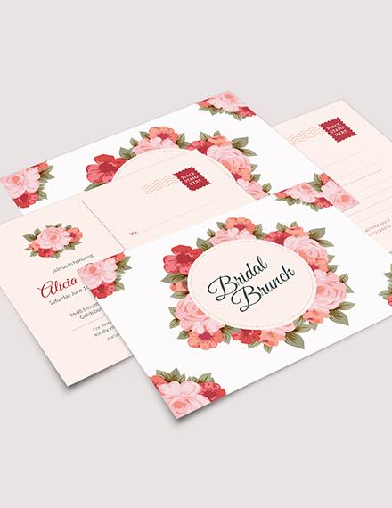 Bridal Shower Postcard Download