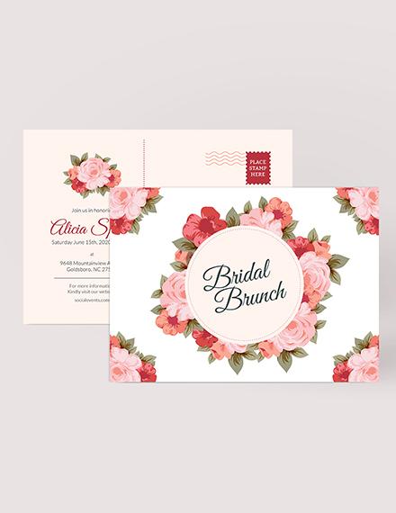 Sample Bridal Shower Postcard
