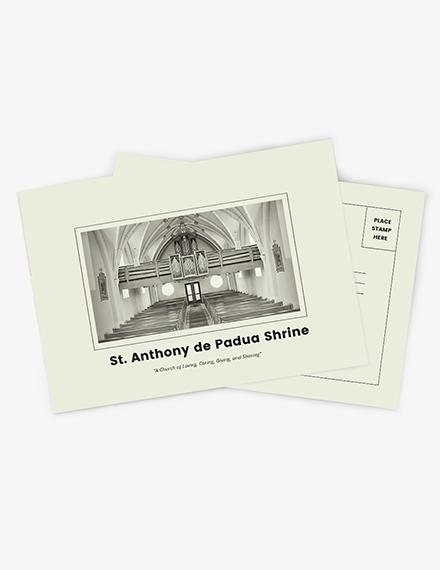 Church Event Postcard Download