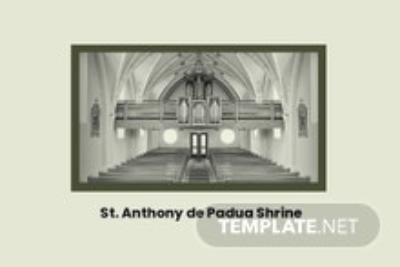 Church Event Postcard Template