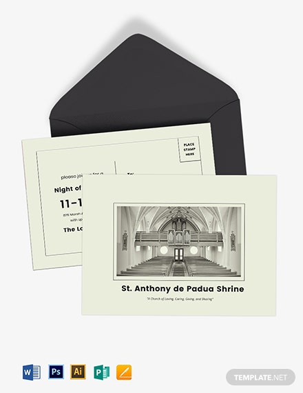 Church Event Postcard Template