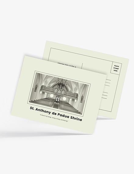 Sample Church Event Postcard