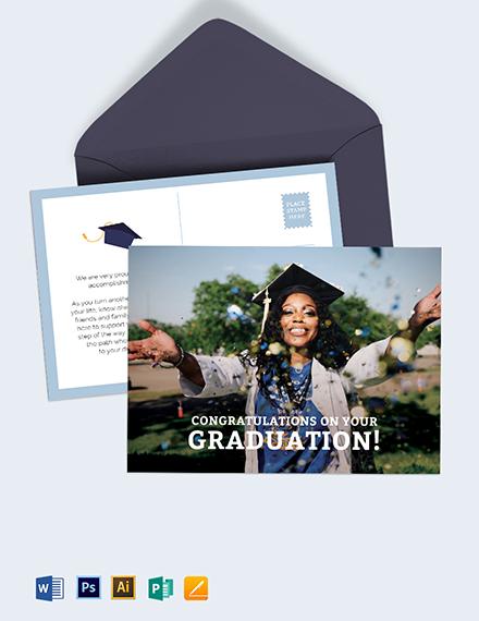 Graduation Postcard Template